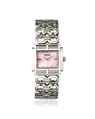 Versus by Versace Women's SGE010012 Moda Silver/Pink Stainless Steel Watch