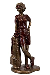 Urban Trends Collection UTC80219 Resin Lady Golfer Figurine