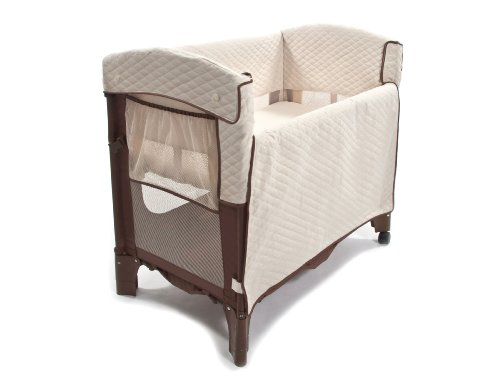 Fantastic Deal! Arm's Reach Concepts Mini Convertible Arc Co-Sleeper Bedside Bassinet, Cocoa/Natural