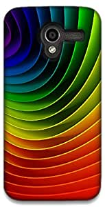 The Racoon Lean printed designer hard back mobile phone case cover for Moto X (1st Gen). (Rainbows)