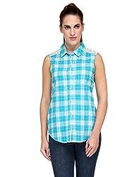 Kiosha Blue White Checkered Shirt