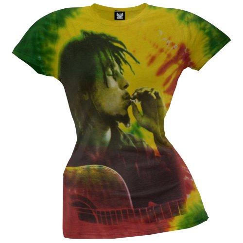 Bob Marley - Side Profile Smoke Tie-Dye Juniors T-Shirt - X-Large (Tie Dye Shirt Marley compare prices)