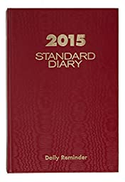 AT-A-GLANCE Standard Diary Daily Reminder 2015, 5.75 x 8.25 Inch Page Size, Red (SD389-13)