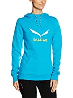 SALEWA Sudadera con Capucha Solidlogo Co W Hdy (Azul Royal)