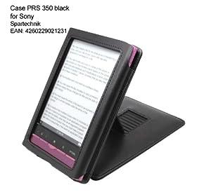 Etui Sony E-Book PRS-350 - parfait sacoche de transport - housse en cuir artificiel pour Lecteur eBook Sony E-Book PRS 350 avec son système Stand intégré - noir