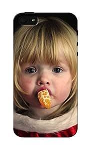 KnapCase Girl With Orange Designer 3D Printed Case Cover For Apple iPhone 5S