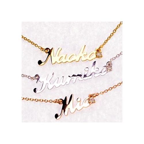 【Jewerly DIANA】永遠にともに ネーム ネックレス 一粒 ダイヤモンド/ピンクゴールド コーティング