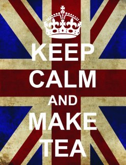 S2543 Make Tea Funny Ww2 Union Jack Keep Calm And Carry On Range Metal Advertising Wall Sign