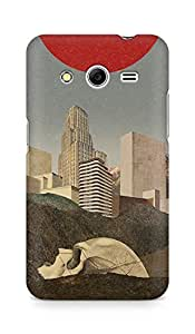 Amez designer printed 3d premium high quality back case cover for Samsung Galaxy Core 2 (Skull)