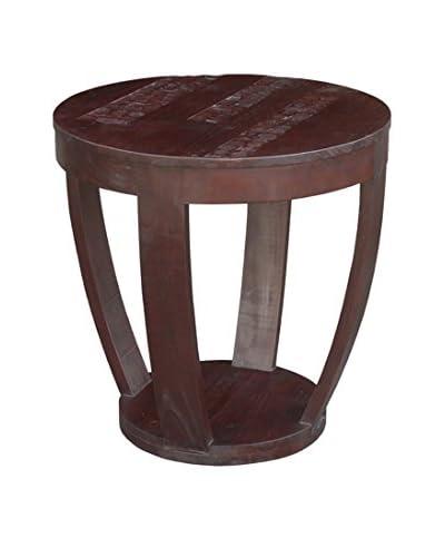 Jeffan Batavia Coco Motif Side Table, Dark Natural