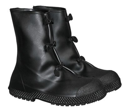 "Radnor (Men's 6-8) 12"" Black PVC 3 Button Overboots Size: Small RAD64055791"