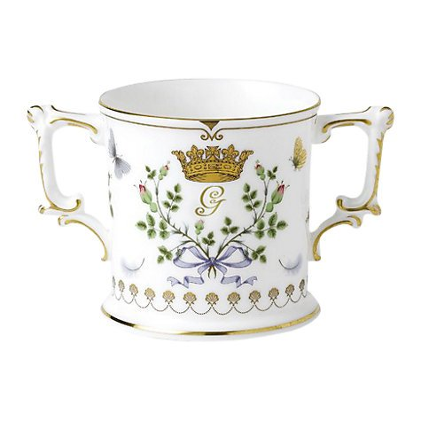 ROYAL CROWN DERBY-PRINCIPE GEORGE BABY-TAZZA ROYAL LOVING LIMITATA DI 1.500 PEZZI