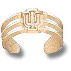 Indiana University Hoosiers LU Toe Ring - 14K Yellow Gold by Logo Art