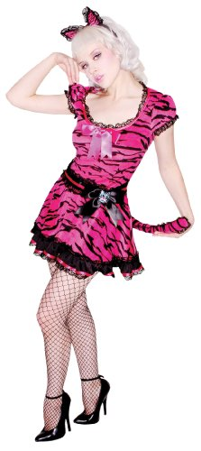 Jessica Louise Sexy Pinup Tiger 2pc Womens Costume Pink Small (6-8)