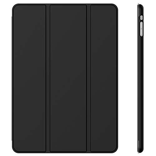 JETech® Gold Slim-Fit Folio Smart Case Cover per Apple iPad Mini e New iPad Mini con Retina Display (Seconda Generazione) con Auto Funzione Sonno/Veglia - Nero