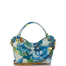 Small Norah Hobo Bag<br>Blue Fiji