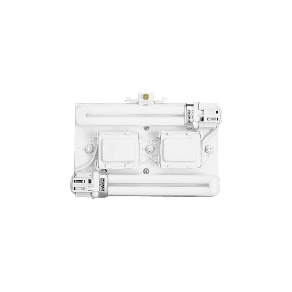 Progress Lighting P7200 30 Surface Mount Backplate Mounts Directly Onto Junction Box with Standard 120 Volt High Power Factor Ballasts, White