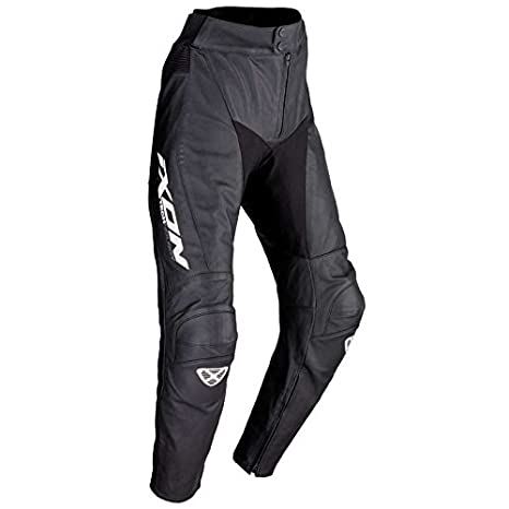 Pantalon cuir Ixon FUELLER - XL - Noir/Blanc
