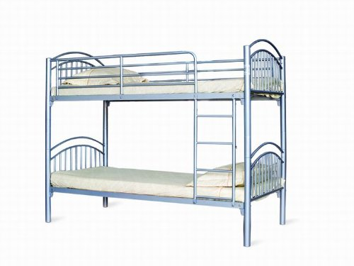 Lynton (Corfu) Single 3FT Metal Bunk Bed - Can split into 2 3FT Beds