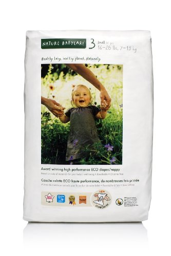 Nature Babycare Eco-Friendly Chlorine-Free Diapers, Size 3 (16-28-Pounds), 31 Diapers (Pack of 4) [Amazon Frustration-Free Packaging]