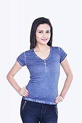 Skatti Womens Cotton Long Sleeve Top (Sk_136_15Ngirl_M _Navy Blue _Medium)