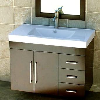 36 bathroom wall mounted vanity cabinet dark cherry color