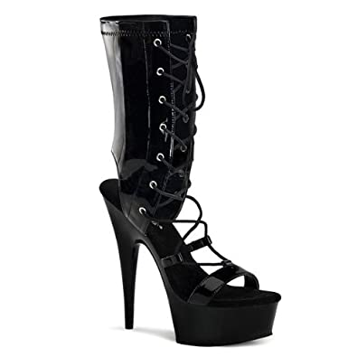 High-Heels-Sandaletten: Schn�r-Sandalette Lack