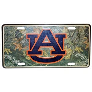 Click here to buy NCAA Auburn Tigers Car Tag (Camo) by Game Day Outfitters.