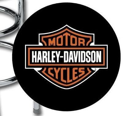 Harley Davidson 174 Bar Stool With Bar Amp Shield Logo Hdl