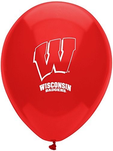 "Pioneer Balloon Company 10 Count University of Wisconsin Latex Balloon, 11"", Multicolor"