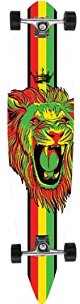 Krown Rasta Lion Pintail Complete Longboard, 9x43-Inch at Sears.com