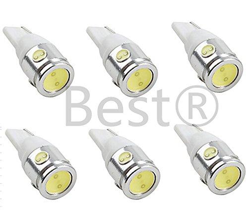 Best To Buy® (6-Pack) White Bulb T5 Wedge 2.5W 360Deg Leds For Malibu 12V Ac Landscape