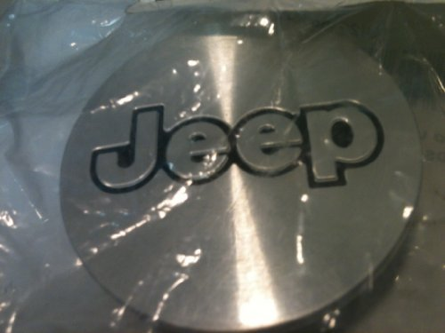Brushed Aluminum Jeep Name Mopar Wheel Center Caps 1992-2002 Jeep Grand Cherokee by Jeep (2002 Grand Cherokee Center Caps compare prices)