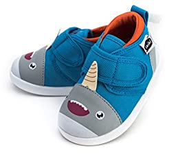 Sascha Narwhalski Squeaky Shoes for Toddlers w/ Adjustable Squeaker, Size 5, By ikiki