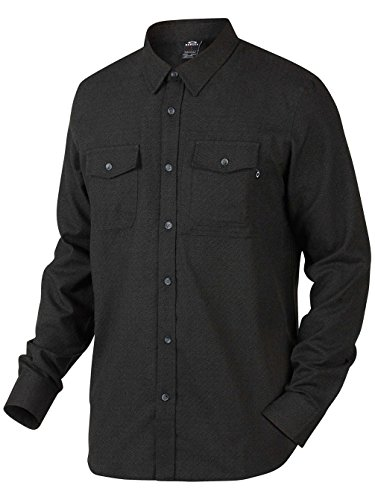 camicia-a-maniche-lunghe-oakley-adobe-jet-nero-heather-s-nero