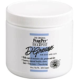 PurePet D-Grease Dog and Cat Shampoo, 16-Ounce