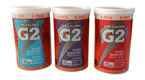 G2 Glacier Freeze, Fruit Punch, Grape Low Calorie Gatorade Combo Pack (Gatorade G2 Powder Fruit Punch compare prices)