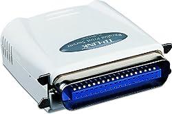 TP-LINK TL-PS110P Single parallel port fast ethernet Print Server E-mail Alert Internet Printing Protocol (IPP) SMB (White)