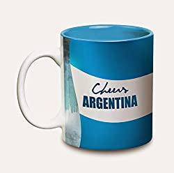 Hot Muggs Cheers Argentina Ceramic Flags Mug, 350ml