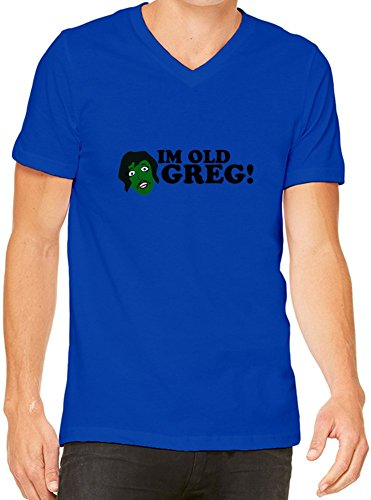 I'm Old Greg V-Neck T-Shirt For Men| Custom -Printed Tee| 100% Combed & Ring-Spun Cotton| Premium Quality DTG Printing| Unique Clothing For Men By Teezer Tee XX-Large (Im Old Greg compare prices)