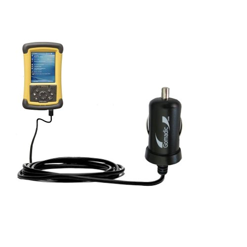 Gomadic Intelligent Compact Car / Auto Dc Charger Suitable For The Trimble Tds Recon 200 / 200X - 2A / 10W Power At Half The Size. Uses Gomadic Tipexchange Technology