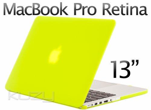 $$  Kuzy - Retina 13-Inch NEON YELLOW Rubberized Hard Case for MacBook Pro 13.3
