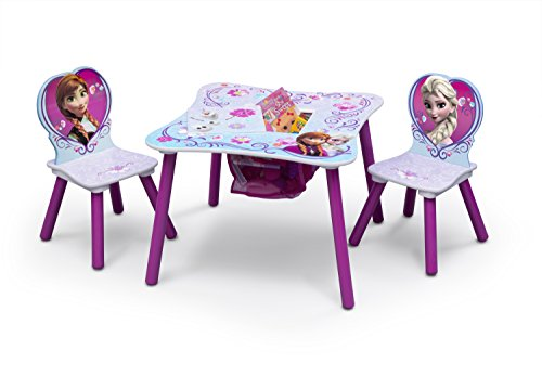 Delta Children Table and Chair Set With Storage, Disney Frozen (Frozen Table And Chair Set compare prices)