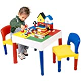 3 in 1 Activity Table & Chairs with Writing Top/Lego/Sand/Water/Storage