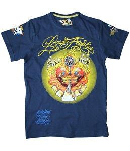 Brave Soul men's royal flush t-shirt, purple medium