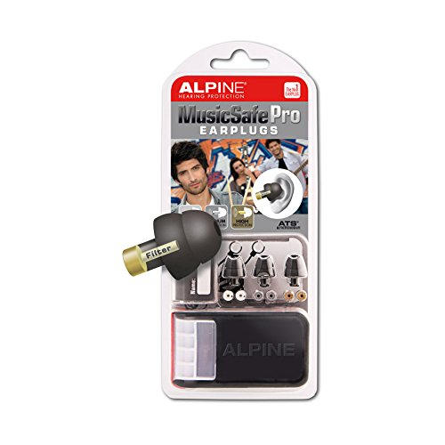 Alpine Hearing Protection - MusicSafe PRO Earplugs for Musicians - BLACK (Alpine Hearing Protection Pro compare prices)