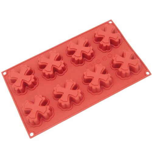 Freshware 8-Cavity Cross Cake Silicone Mold and
