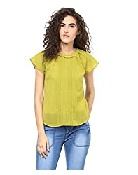 Yepme Women's Green Polyester Tops - YPWTOPS1407_L