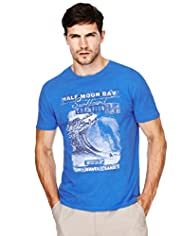 North Coast Pure Cotton Half Moon T-Shirt