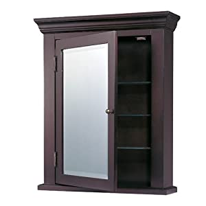 Espresso black medicine cabinet from destination lighting for Espresso bathroom medicine cabinet